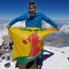 Флаг нашего района Марьиной рощи на самой высокой вершине Европы и России - г.Эльбрус (5642м)