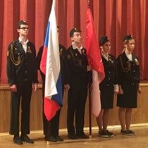 Фотоотчет с торжественного мероприятия принятия Клятвы курсантов кадетского класса